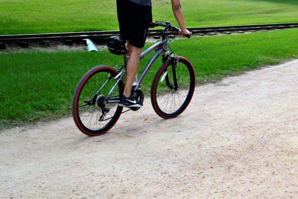 vlakke ondergrond fietsen